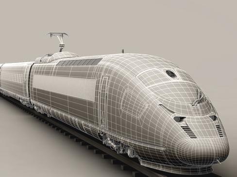 generic high speed train 3d model 3ds max c4d lwo ma mb obj 115941