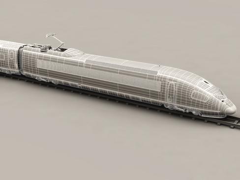 generic high speed train 3d model 3ds max c4d lwo ma mb obj 115943