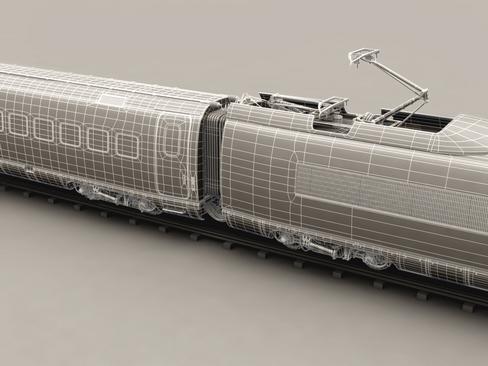 generic high speed train 3d model 3ds max c4d lwo ma mb obj 115944