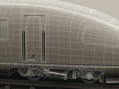 generic high speed train 3d model 3ds max c4d lwo ma mb obj 115945