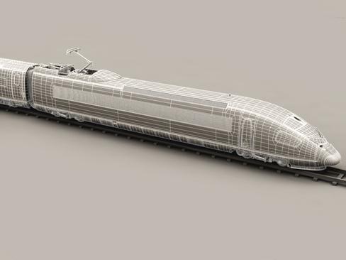 generic high speed train 3d model 3ds max c4d lwo ma mb obj 115947