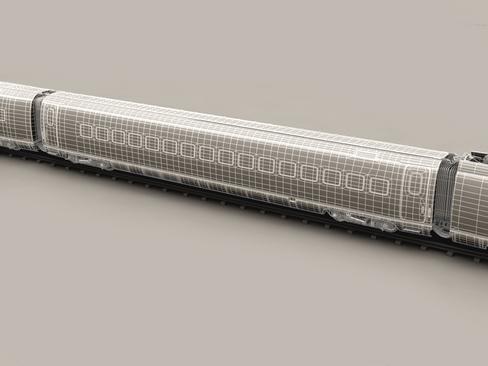 generic high speed train 3d model 3ds max c4d lwo ma mb obj 115948