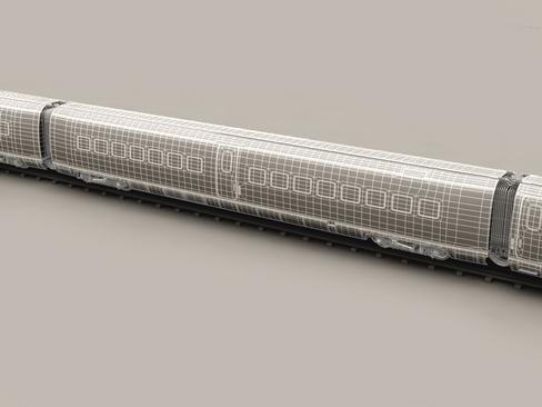 generic high speed train 3d model 3ds max c4d lwo ma mb obj 115949