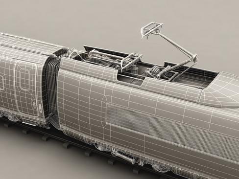 generic high speed train 3d model 3ds max c4d lwo ma mb obj 115950