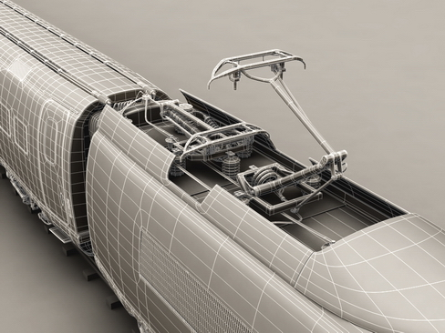 generic high speed train 3d model 3ds max c4d lwo ma mb obj 115951