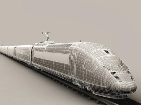 generic high speed train 3d model 3ds max c4d lwo ma mb obj 115952