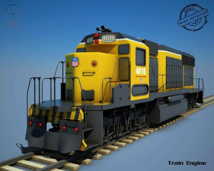 traukinio variklis v2 3d modelis 3ds max fbx obj 129074