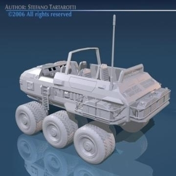 desert rover with wheels 3d model 3ds c4d obj 77682