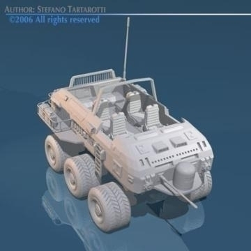 desert rover with wheels 3d model 3ds c4d obj 77684