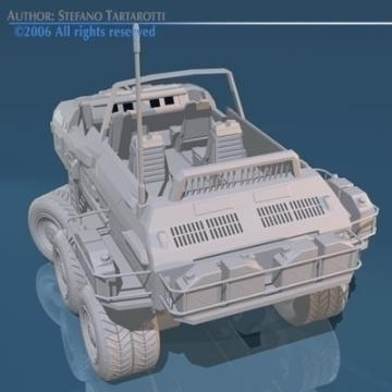 desert rover with wheels 3d model 3ds c4d obj 77689