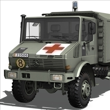 mercedes benz unimog belgian ambulance 3d model 3ds c4d lwo obj 105408