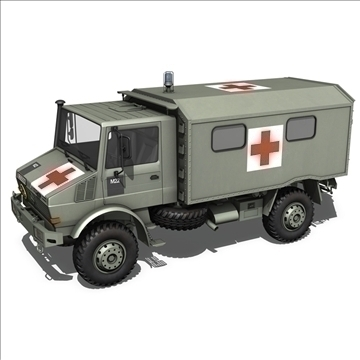 mercedes benz unimog belgian ambulance 3d model 3ds c4d lwo obj 105409