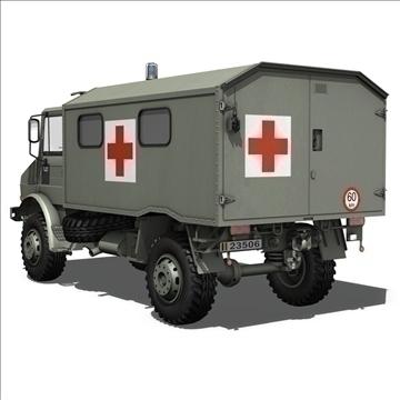 mercedes benz unimog belgian ambulance 3d model 3ds c4d lwo obj 105410