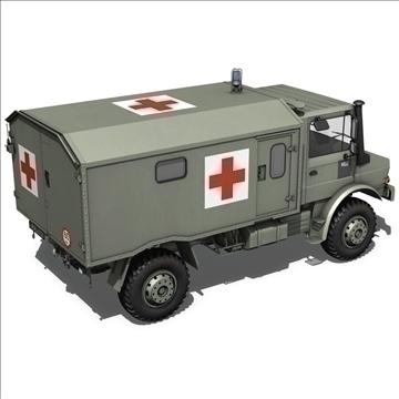 mercedes benz unimog belgian ambulance 3d model 3ds c4d lwo obj 105411