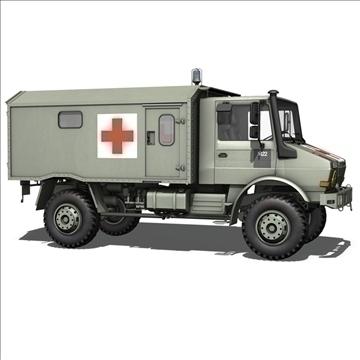 mercedes benz unimog belgian ambulance 3d model 3ds c4d lwo obj 105412