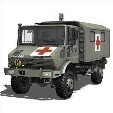 mercedes benz unimog belgian ambulance 3d model 3ds c4d lwo obj 105414