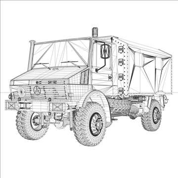 mercedes benz unimog belgian ambulance 3d model 3ds c4d lwo obj 105417