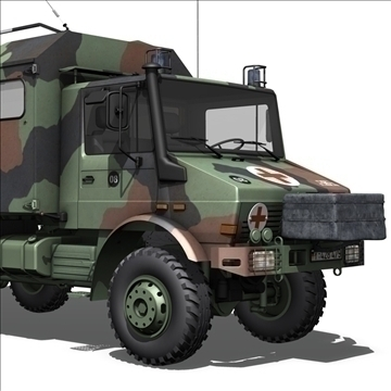 mercedes benz unimog u1300l ambulance v2 3d model c4d 105272