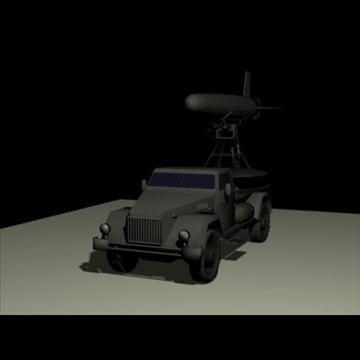 hərbi yük maşını t 3d model 3ds 97388