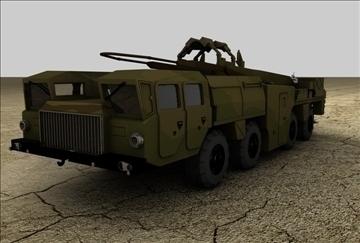 scud b ракетен камион 3d модел 3ds c4d текстура 109272