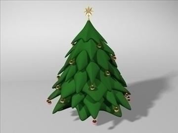 christmas tree 2 3d model 3ds dxf fbx c4d x obj 84601