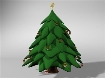 christmas tree 2 3d model 3ds dxf fbx c4d x obj 84603