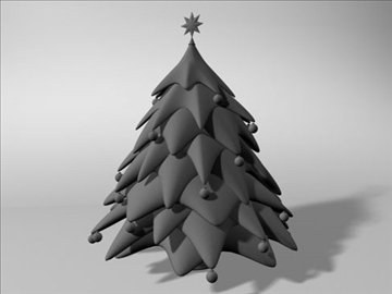 christmas tree 2 3d model 3ds dxf fbx c4d x obj 84605
