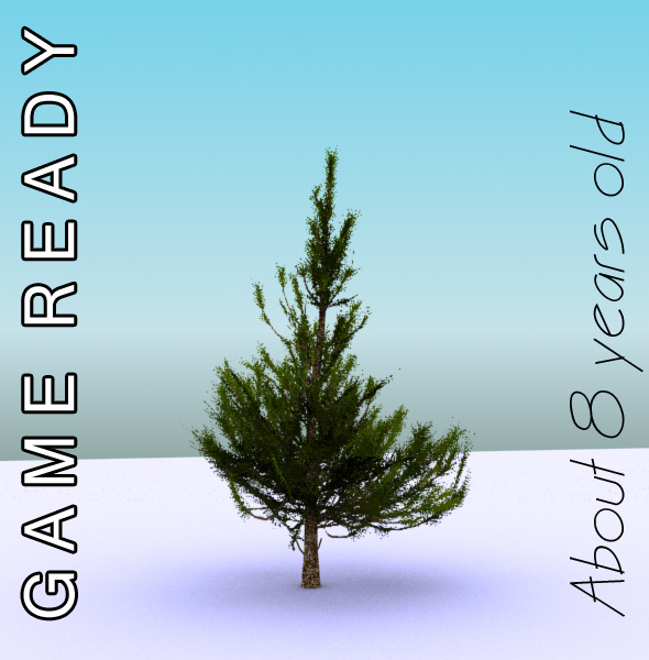 gameready low poly tree pack 2 (aleppo pine) 3d model 3ds max fbx c4d x ma mb texture obj 131673