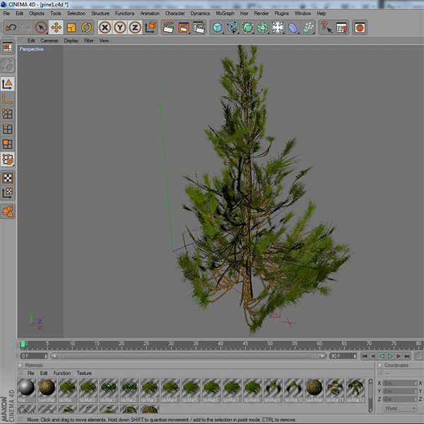 gameready low poly tree pack 2 (aleppo pine) 3d model 3ds max fbx c4d x ma mb texture obj 131677