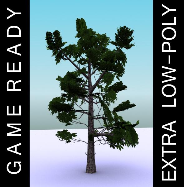 gameready ниско поли дрво пакет 3 (коњ-костен) 3d модел 3ds макс fbx c4d x ma mb текстура obj 150946