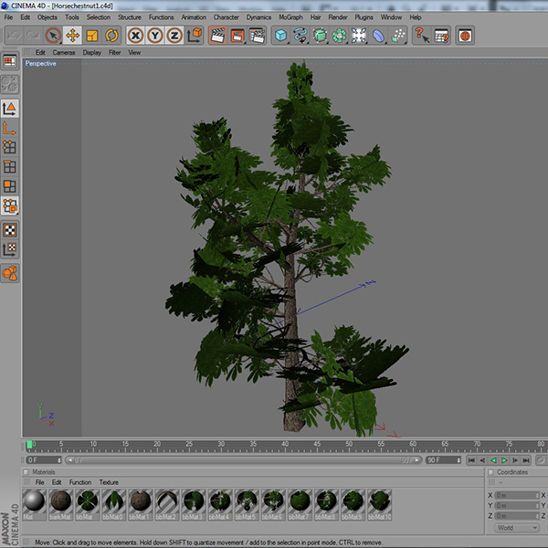 gameready low poly tree pack 3 (horse-chestnut) 3d model 3ds max fbx c4d x ma mb texture obj 150952