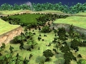 jungle terrain 3d model 3ds max hrc xsi obj 99669