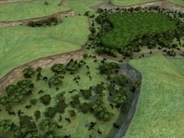 džungļu reljefs 3d modelis 3ds max hrc xsi obj 99672
