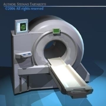 magnetic resonance scanner 3d model 3ds dxf obj 78024