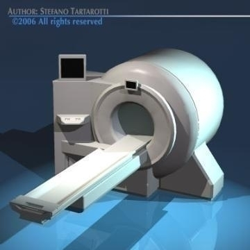 magnetic resonance scanner 3d model 3ds dxf obj 78028
