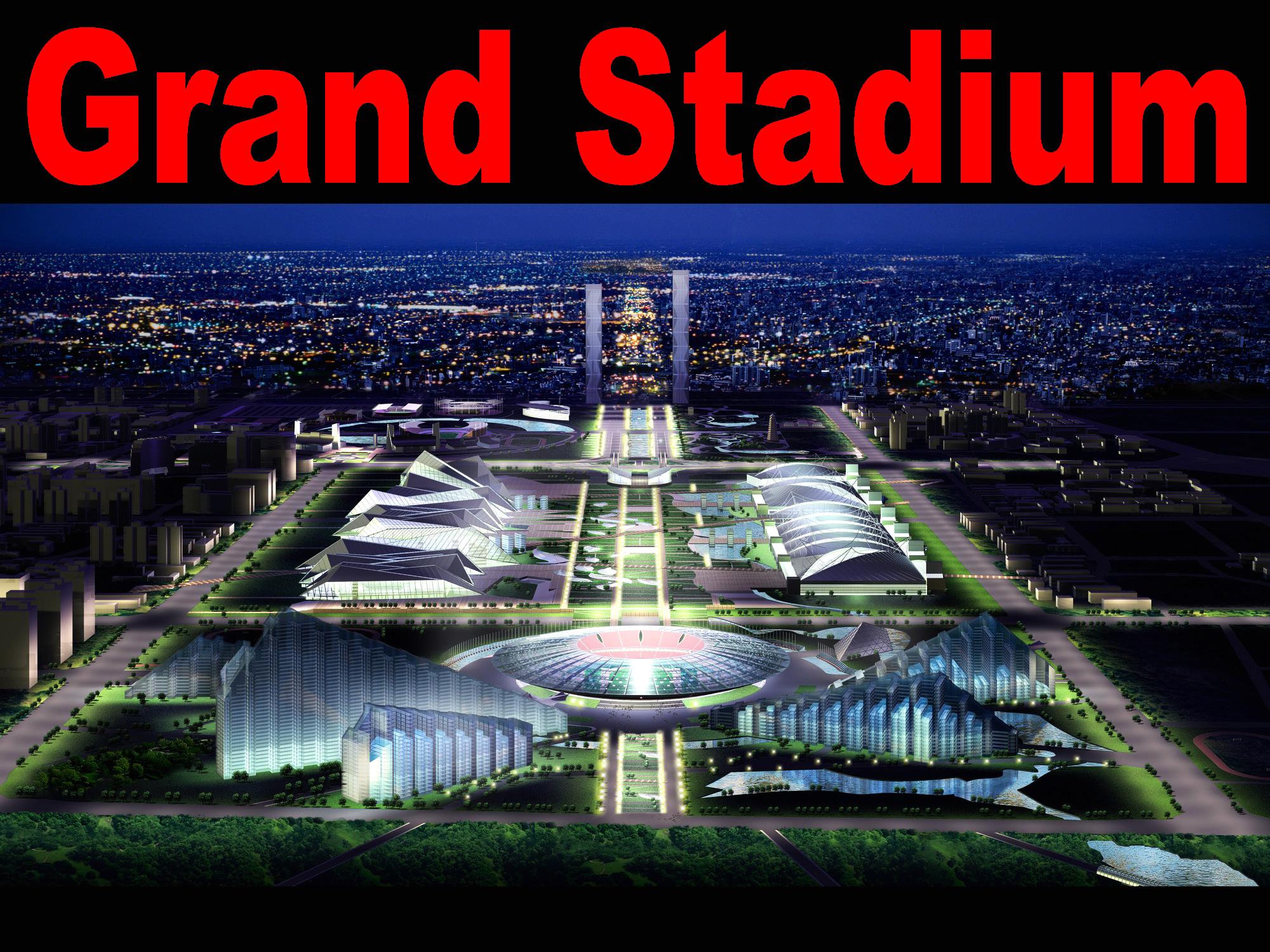 building 057 grand stadium 3d model max 133556