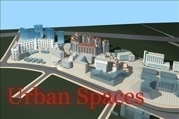 urban spaces 039 3d model 3ds max 91561