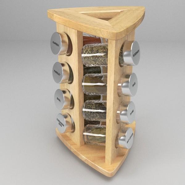 spice rack 3d model 3ds fbx skp obj 115512