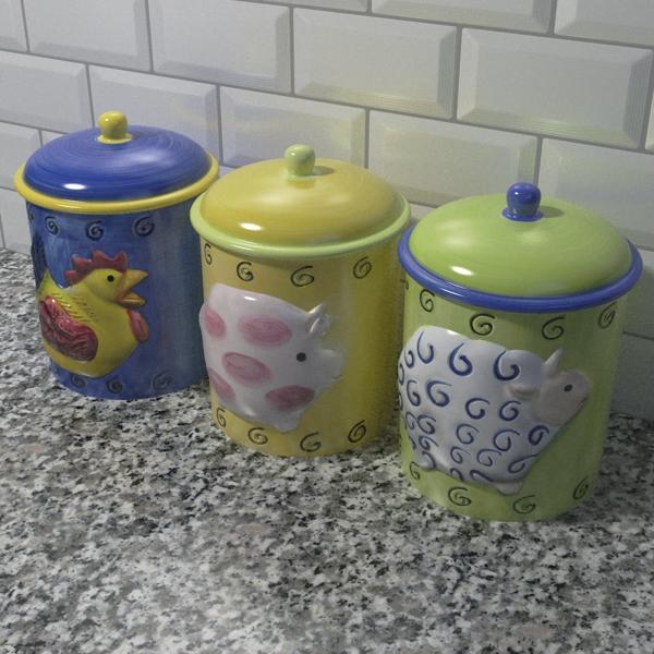 tea coffee sugar jars 3d model 3ds fbx skp obj 113403