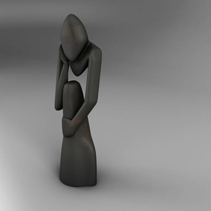 thinker 3d model 3ds ma mb obj 155589