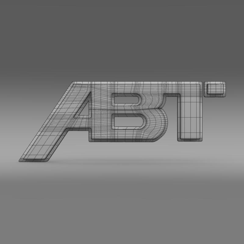abt logo 3d model 3ds max fbx c4d lwo ma mb hrc xsi obj 152571