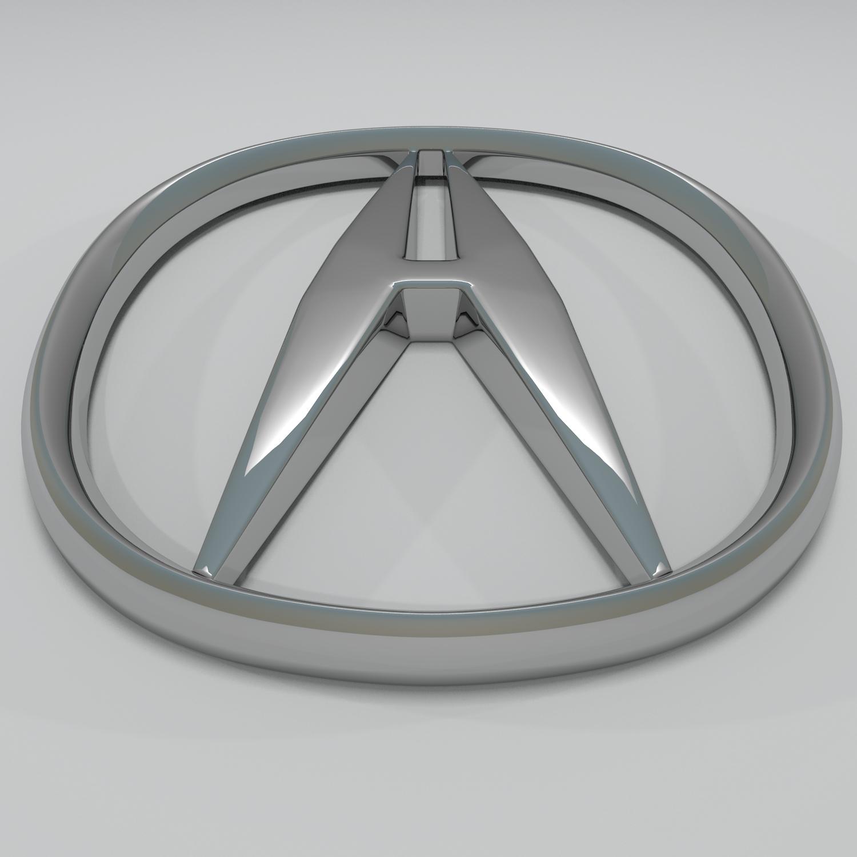 acura logo hd 3d model blend obj 140875