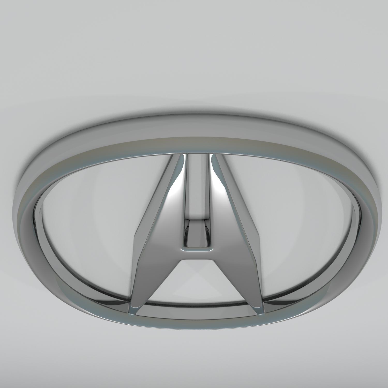 acura logo hd 3d model blend obj 140876