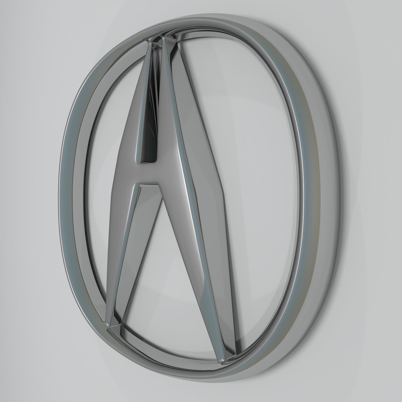 acura logo hd 3d model blend obj 140877