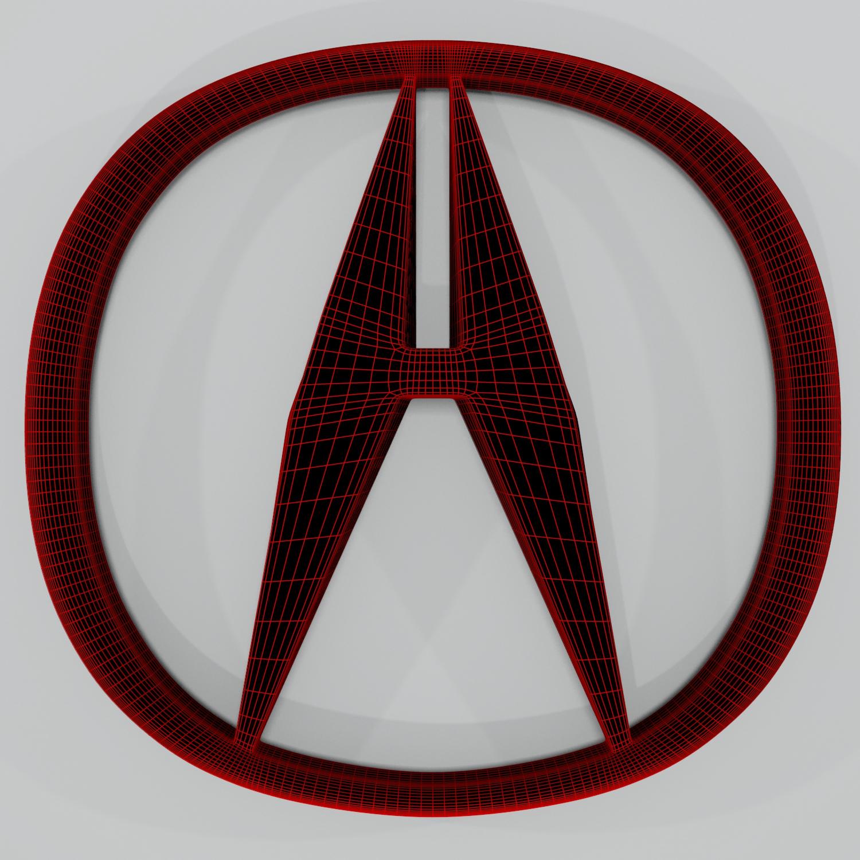 acura logo hd 3d model blend obj 140878