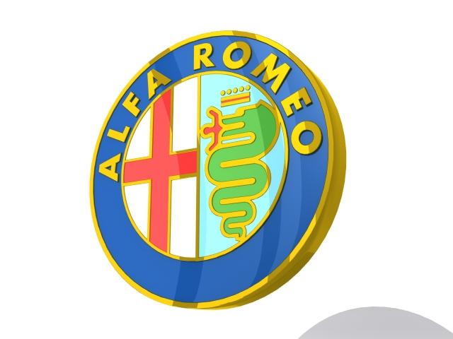 alfa romeo logo 3d v2 3d model 3ds max fbx obj 153995