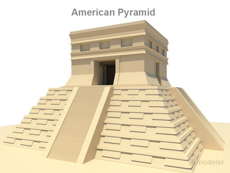 american pyramid 3d model 3ds fbx c4d lwo ma mb hrc xsi obj 119678