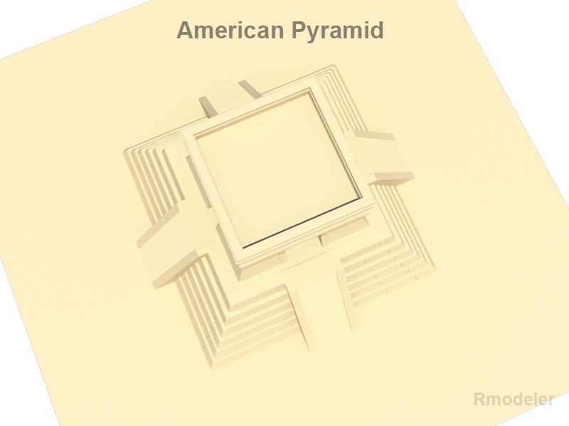amerikai piramis 3d modell 3ds fbx c4d lwo ma mb hrc xsi objektum 119679