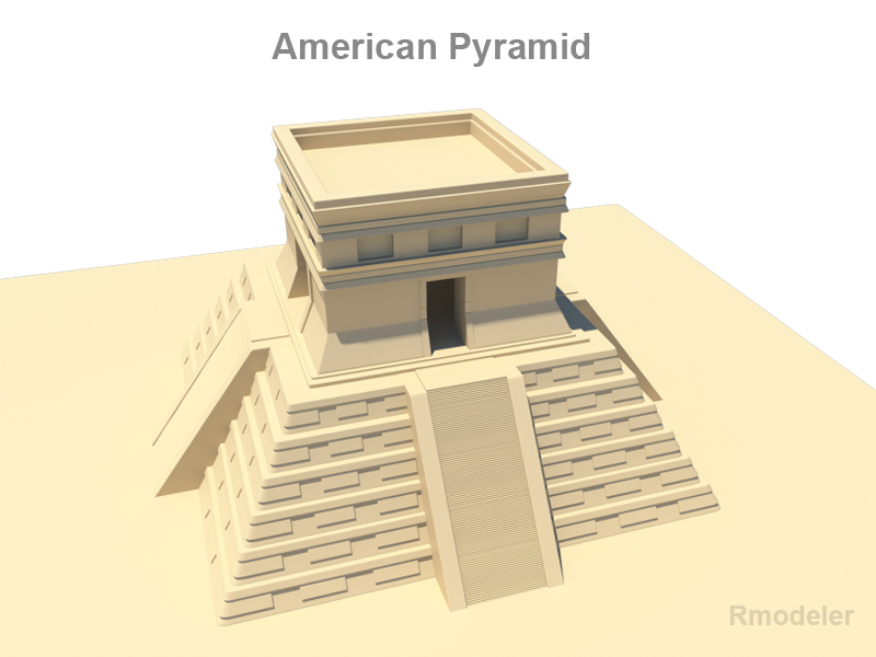 amerikai piramis 3d modell 3ds fbx c4d lwo ma mb hrc xsi objektum 119680