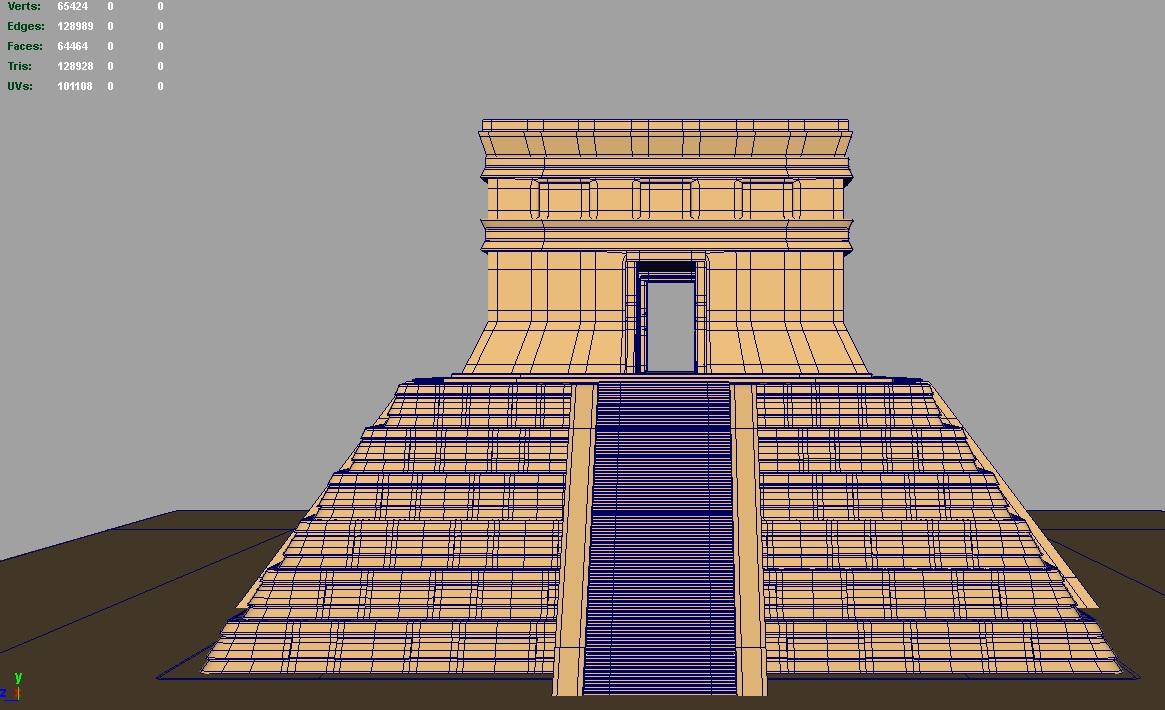 amerikai piramis 3d modell 3ds fbx c4d lwo ma mb hrc xsi objektum 119681